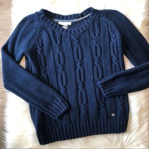 Adidas Neo Chunky Knit Navy Blue Sweater Size M